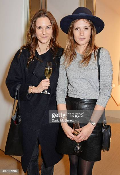 Fran Hickman and Caroline Lever attends the Ralph Lauren Fall 2014 Collection fashion and accessories presentation in celebration of the new Phillips...