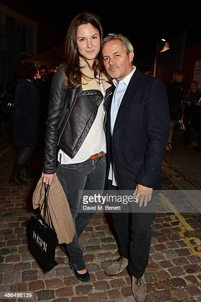 Fran Hickman and Nellee Hooper attend a private view of 'Julian Schnabel Every Angel Has A Dark Side' in aid of Chickenshed at The Dairy Art Centre...