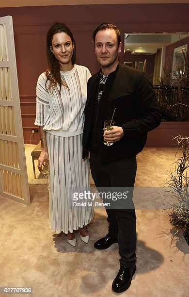 Fran Hickman and Nicholas Kirkwood attend a cocktail party to honour the 2016 Fashion Awards hosted by Natalie Massenet Lauren Santo Domingo and...