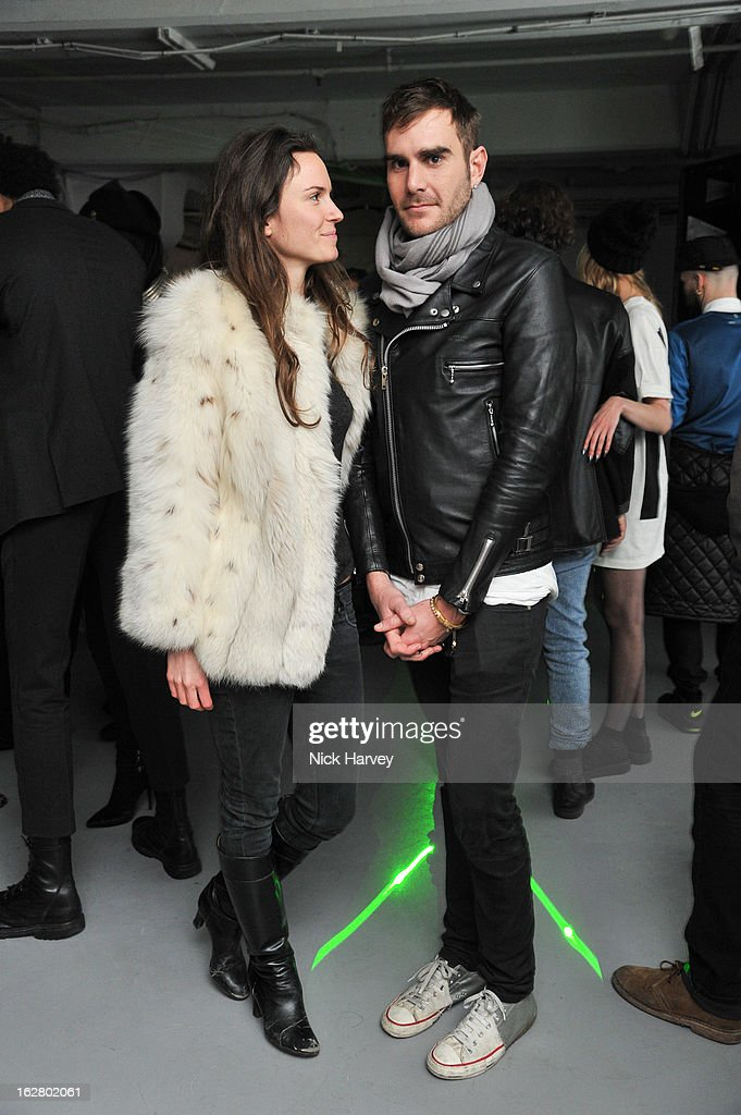 Fran Hickman and Oscar Humphries attend the launch of Dinos Chapman's album 'Luftbobler' at The Vinyl Factory Gallery on February 27, 2013 in London, England.