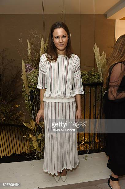 Fran Hickman attends a cocktail party to honour the 2016 Fashion Awards hosted by Natalie Massenet Lauren Santo Domingo and Derek Blasberg on...
