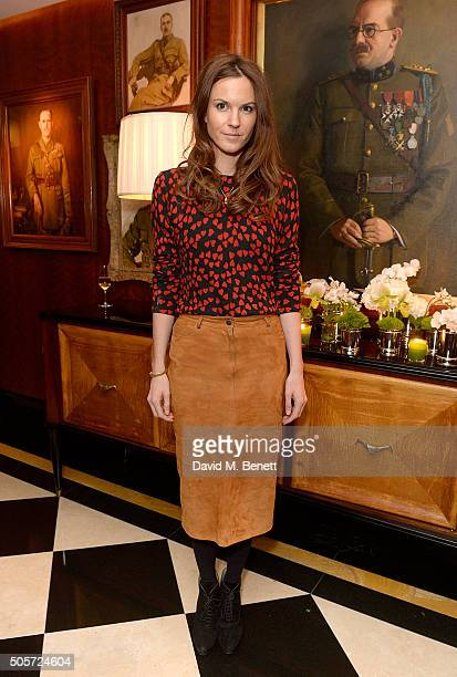 Fran Hickman attends a dinner in honour of Justine Picardie to celebrate the book 'Dior by Avedon' at the Beaumont Hotel on January 19 2016 in London...