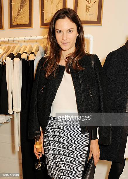 Fran Hickman attends a drinks reception celebrating the opening of Club Monaco's first London store in Westbourne Grove on October 24 2013 in London...