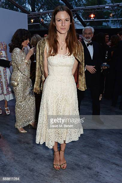 Fran Hickman attends British Vogue's Centenary gala dinner at Kensington Gardens on May 23 2016 in London England