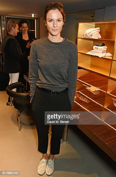 Fran Hickman attends the Frette London store launch on October 6 2016 in London England