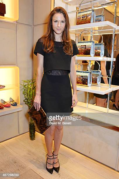 Fran Hickman attends the Roger Vivier 'The Perfect Pair' Frieze cocktail celebrating Ambra Medda 'Miss Viv' at the Roger Vivier Boutique on October...