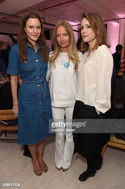 Fran Hickman Martha Ward and Caroline Leaver attend a private dinner hosted by Mih Jeans to celebrate their 10th anniversary at Brewer Street Car...