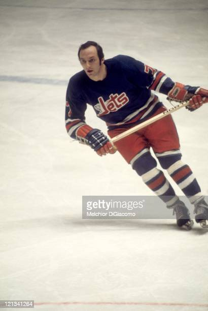 Fran Huck of the Winnipeg Jets skates on the ice during an WHA game circa 1977