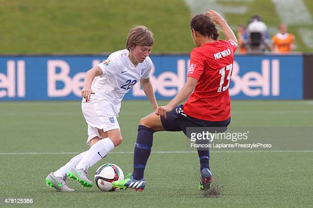 Fran Kirby of England controls the ball against Ingrid Moe Wold of Norway during the FIFA Women's World Cup Canada 2015 round of 16 match between...