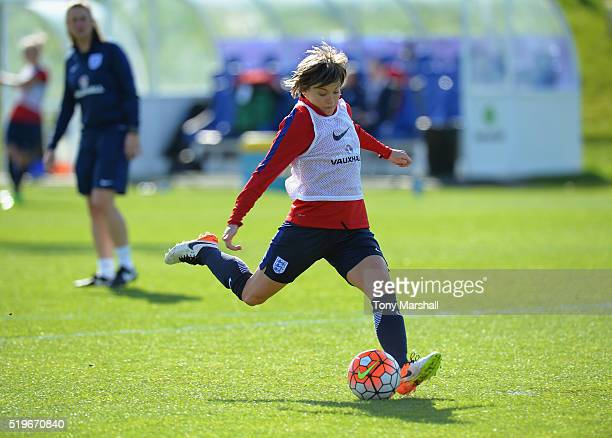 Fran Kirby of England during the England Women Training Session at St Georges Park on April 5 2016 in BurtonuponTrent England