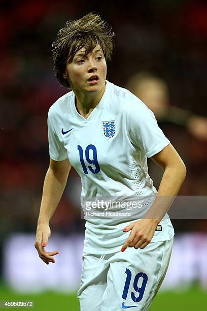 Fran Kirby of England in action during the Women's International Friendly match between England and Germany at Wembley Stadium on November 23 2014 in...