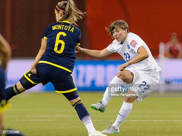 Fran Kirby of England looks on during the 2015 FIFA Women's World Cup Group F match against Colombia at Olympic Stadium on June 17 2015 in Montreal...