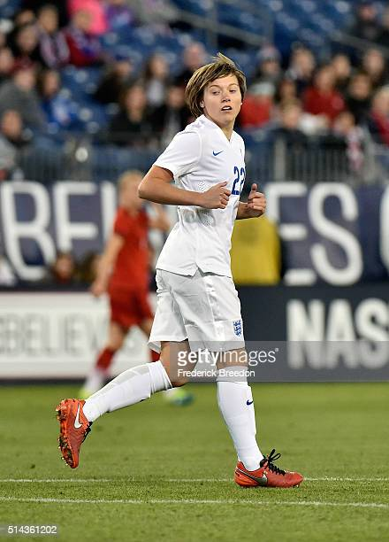 Fran Kirby of England plays against Germany in a friendly international match in the Shebelieves Cup at Nissan Stadium on March 6 2016 in Nashville...
