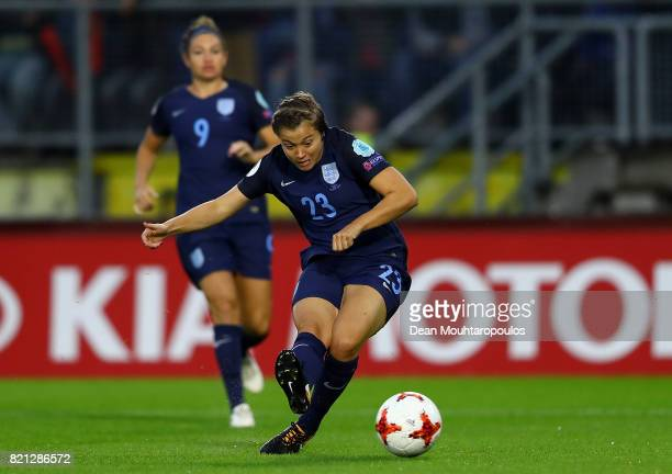 Fran Kirby of England scores the opening goal of the game during the UEFA Women's Euro 2017 Group D match between England and Spain at Rat Verlegh...