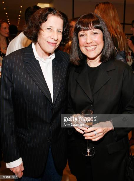 Fran Lebowitz and Lisa Robinson attend the book signing of Graydon Carter's new book 'Vanity Fair Portraits' at Barneys on September 15 2008 in New...