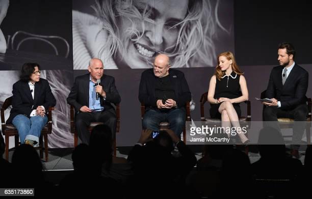 Fran Lebowitz Steve McCurryPeter Lindbergh Jessica Chastain and Derek Blasberg attend The Pirelli Calendar Presents Peter Lindbergh On Beauty panel...