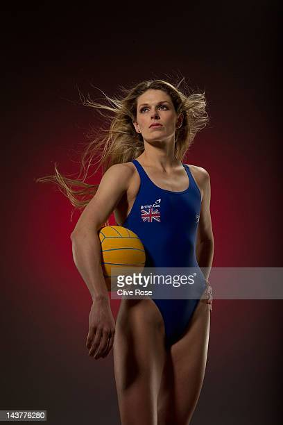 LONDON JANUARY 29 Fran Leighton captain of the Great Britain Water Polo team poses for a portrait during a British Gas photo shoot on January 29 2011...