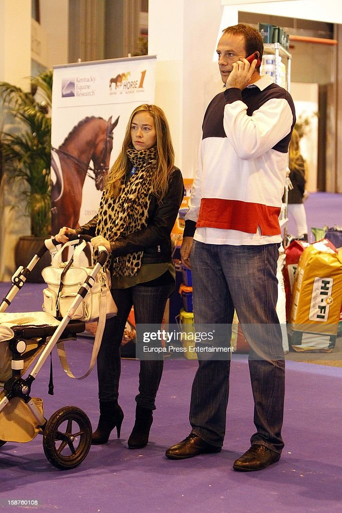Fran Murcia and Carolina Lopez attend Madrid Horse Week Fair 2012 at Ifema on December 21, 2012 in Madrid, Spain.