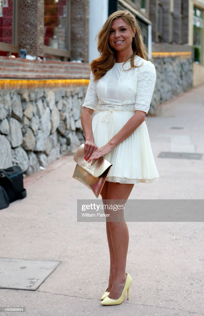 Fran Parman spotted arrivng at Mosaik for TOWIE filming on June 10, 2014 in Marbella, Spain.