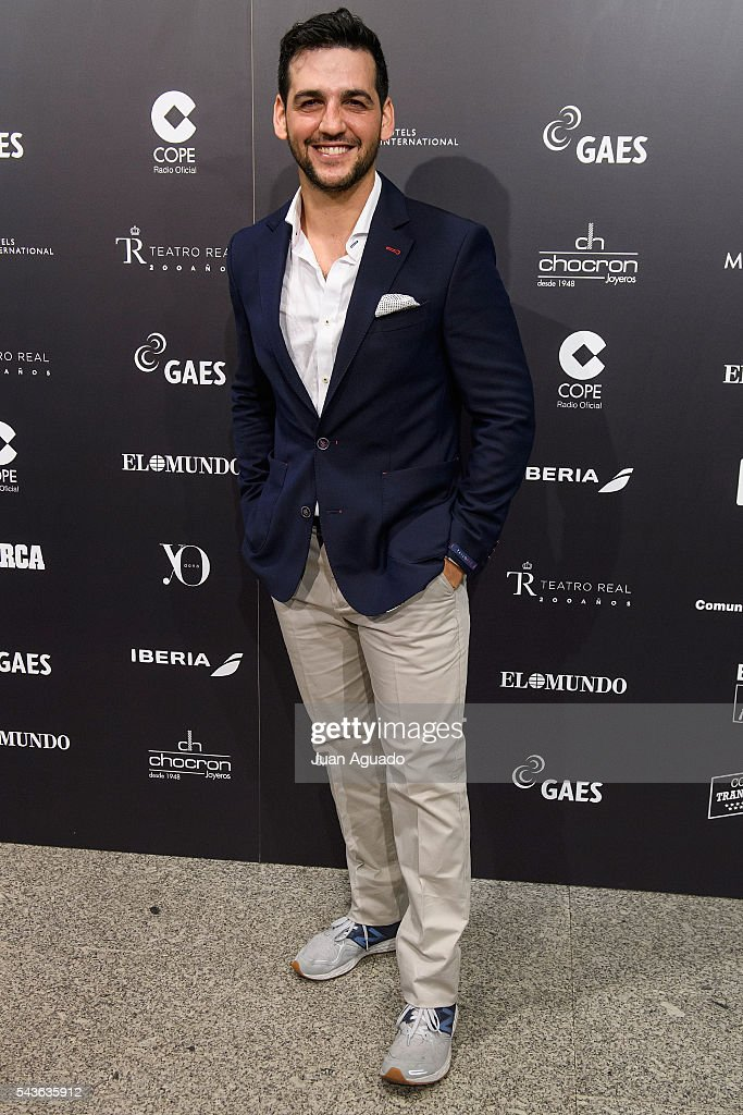 <a gi-track='captionPersonalityLinkClicked' href=/galleries/search?phrase=Fran+Perea&family=editorial&specificpeople=789469 ng-click='$event.stopPropagation()'>Fran Perea</a> attends 'Placido En El Alma' Photocall at Estadio Santiago Bernabeu on June 29, 2016 in Madrid, Spain.