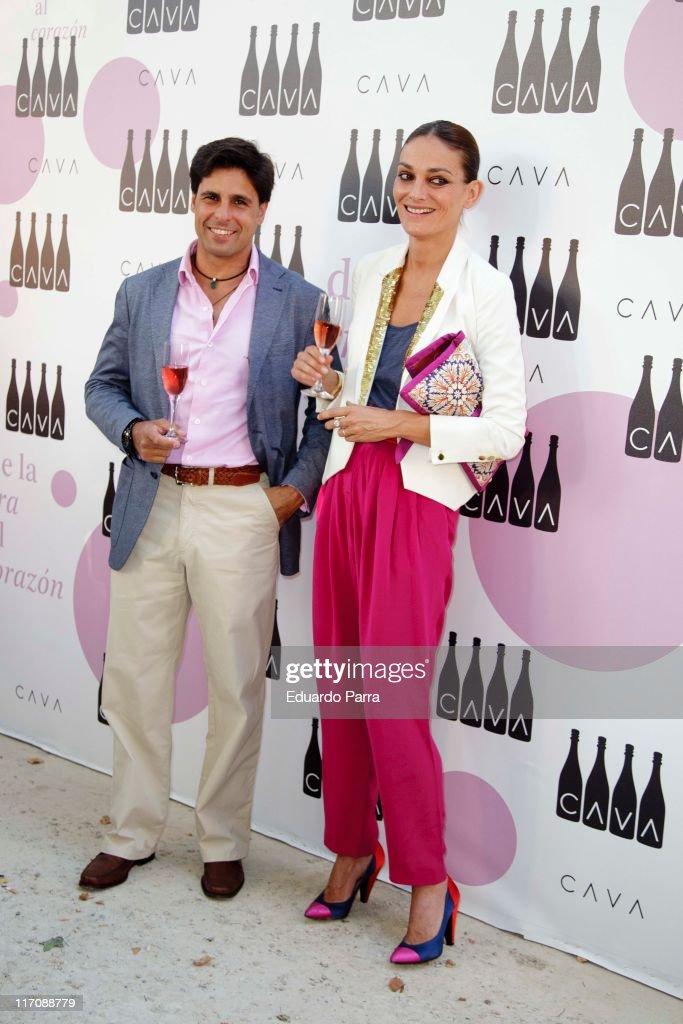 Laura Ponte and Fran Rivera attend Cava Rosado Party