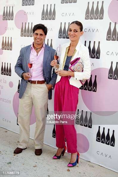 Fran Rivera and Laura Ponte attend Cava Rosado party photocall at Villamagna Hotel on June 21 2011 in Madrid Spain