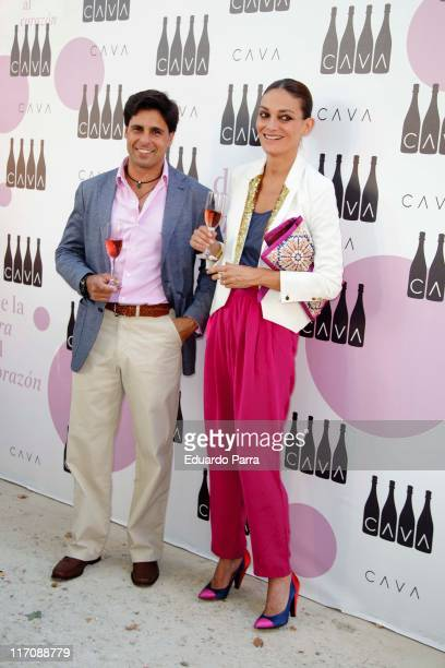 Fran Rivera and Laura Ponte attend Cava Rosado party photocall at Villamagna Hotel on June 21 2011 in Madrid Spain
