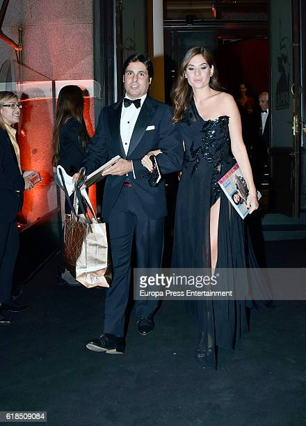 Fran Rivera and Lourdes Montes are seen arriving at ELLE 30th anniversay party at the Circulo de Bellas Artes on October 26 2016 in Madrid Spain