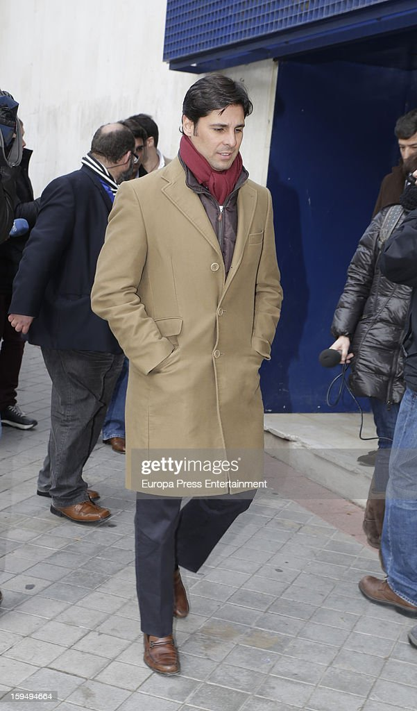 Fran Rivera leaves court on January 14, 2013 in Madrid, Spain. The bullfighter Francisco Rivera and ex wife Duchess of Montoro Eugenia Martinez de Irujo are fighting for the custody of their daughter.