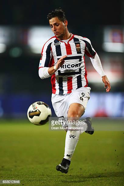 Fran Sol of Willem II in action during the Dutch Eredivisie match between Willem II Tilburg held at Koning Willem II Stadium on January 27 2017 in...