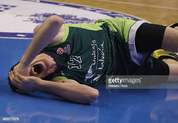 Fran Vazquez #17 of Unicaja Malaga in action during the 20132014 Turkish Airlines Euroleague Top 16 Date 3 game between Unicaja Malaga v Fenerbahce...