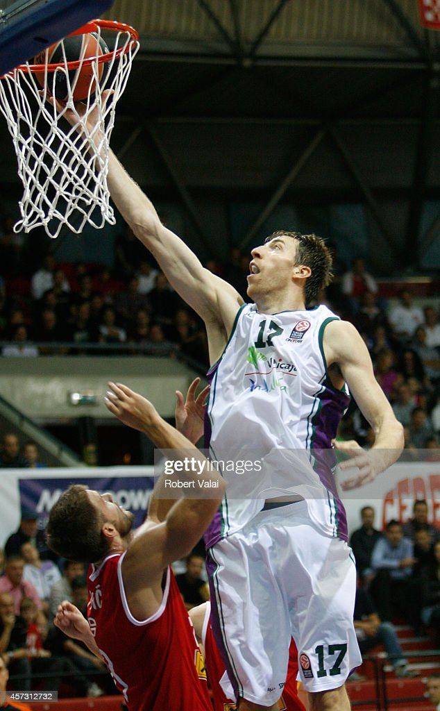 Fran Vazquez, #17 of Unicaja Malaga in action during the 2014-2015 Turkish Airlines Euroleague Basketball Regular Season Date 1 between Cedevita Zagreb v Unicaja Malaga at Drazen Petrovic on October 16, 2014 in Zagreb, Croatia.
