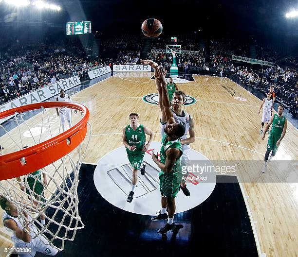 Fran Vazquez #17 of Unicaja Malaga in action during the 20152016 Turkish Airlines Euroleague Basketball Top 16 Round 8 game between Darussafaka Dogus...