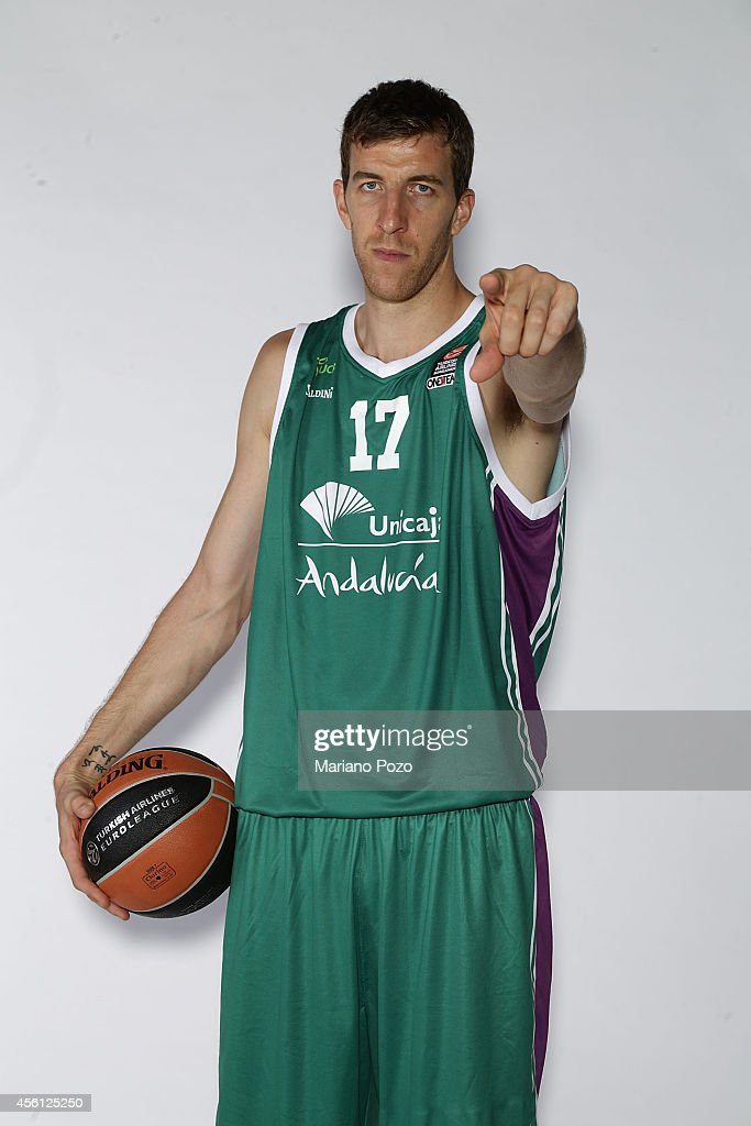 Fran Vazquez, #17 poses during the Unicaja Malaga 2014/2015 Turkish Airlines Euroleague Basketball Media Day at Martin Carpena Arena on September 22, 2014 in Malaga, Spain.
