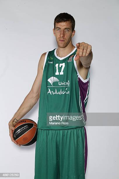 Fran Vazquez #17 poses during the Unicaja Malaga 2014/2015 Turkish Airlines Euroleague Basketball Media Day at Martin Carpena Arena on September 22...