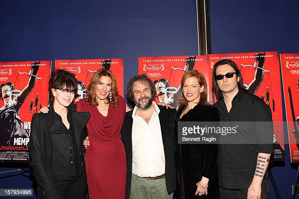 Fran Walsh Amy Berg Peter Jackson Lorri Davis and Damien Echols attend the 'West Of Memphis' premiere at Florence Gould Hall on December 7 2012 in...
