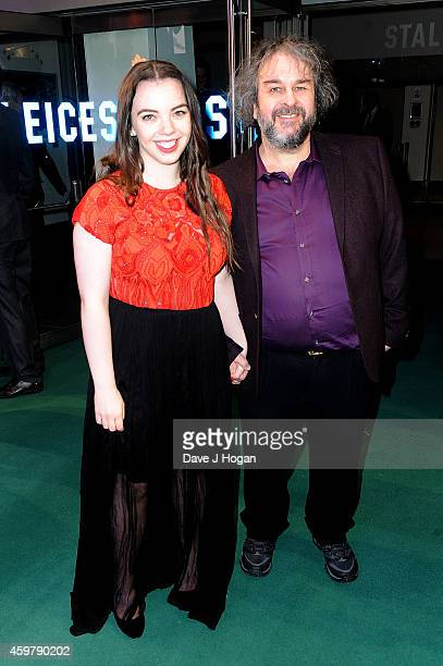 Fran Walsh and Peter Jackson attend 'The Hobbit The Battle Of The Five Armies' World Premiere at Odeon Leicester Square on December 1 2014 in London...