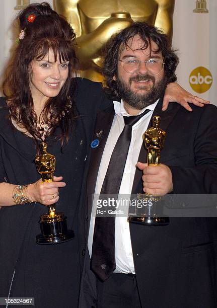 Fran Walsh and Peter Jackson winners of Best Adapted Screenplay for 'The Lord of the Rings The Return of the King'