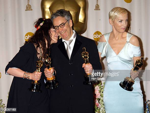 Fran Walsh Howard Shore and Annie Lennox winners of Best Original Song for 'Into the West' from 'The Lord of the Rings The Return of the King'