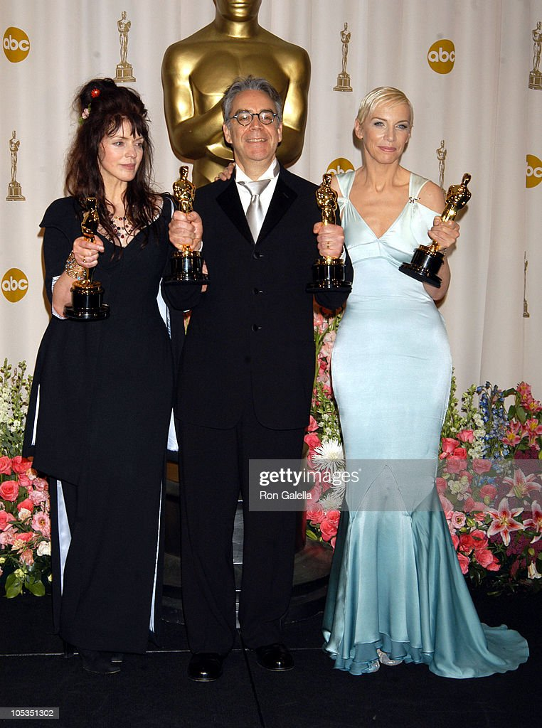 Fran Walsh, Howard Shore and Annie Lennox, winners of Best Original Song for 'Into the West' from 'The Lord of the Rings: The Return of the King'