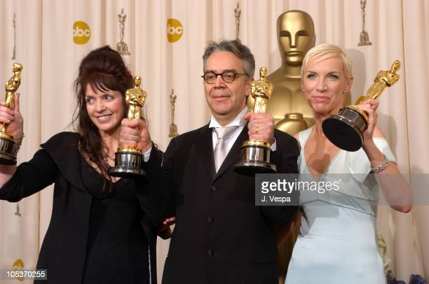 Fran Walsh Howard Shore and Annie Lennox winners of Best Song for 'Into the West'