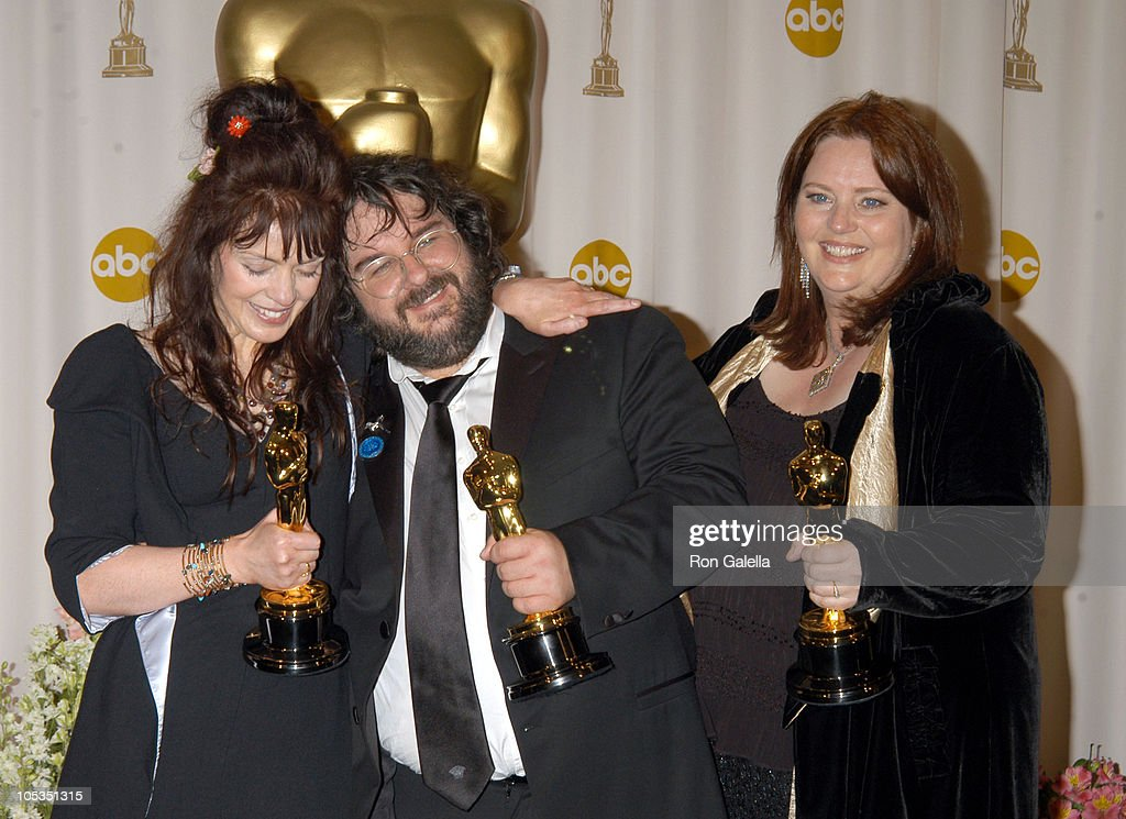 Fran Walsh, Peter Jackson and Philippa Boyens, winners of Best Adapted Screenplay for 'The Lord of the Rings: The Return of the King'