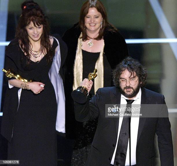 Fran Walsh Philippa Boyens and Peter Jackson winners for Best Adapted Screenplay for 'The Lord of the Rings The Return of the King'