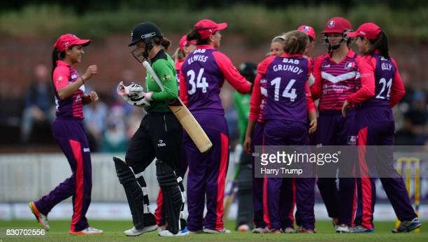 Fran Wilson of Western Storm walks off after being dismissed during the Kia Super League 2017 match between Western Storm and Loughborough Lightning...