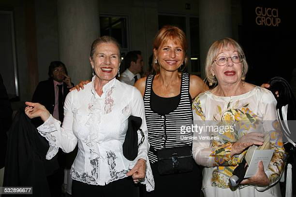 Franca Coin Lilli Gruber and Natalia Aspesi during The 63rd International Venice Film Festival Gucci Group Award at Palazzo Grassi in Venezia Italy