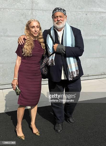 Franca Sozzani and Bruce Weber attend the Giorgio Armani Spring/Summer 2012 fashion show as part Milan Womenswear Fashion Week on September 26 2011...