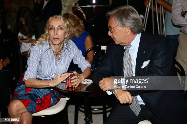 Franca Sozzani and Diego Della Valle attend the Fay show as a part of Milan Fashion Week Womenswear Spring/Summer 2014 on September 18 2013 in Milan...