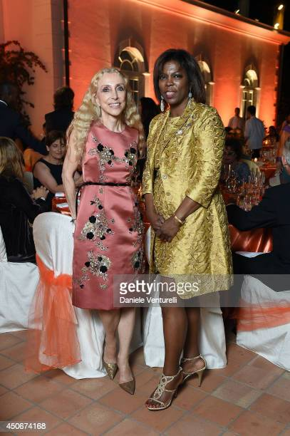 Franca Sozzani and Executive Director of the United Nations World Food Programme Ertharin Cousin attend the World Food Programme Charity Gala Hosted...