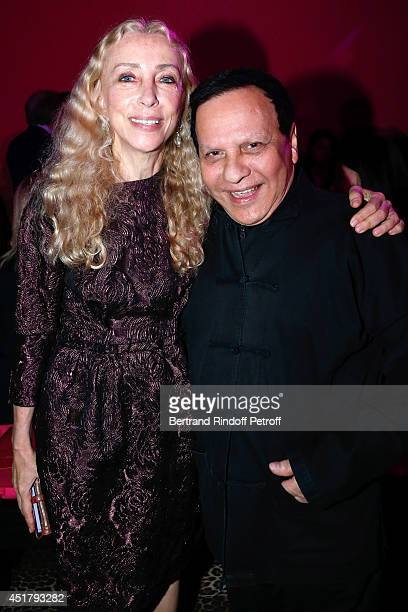 Franca Sozzani and Fashion designer Azzedine Alaia attend the Schiaparelli show as part of Paris Fashion Week Haute Couture Fall/Winter 20142015 on...