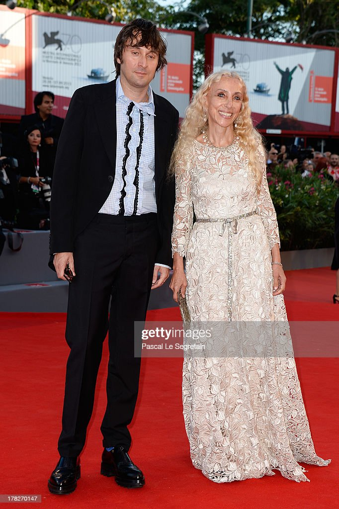 Franca Sozzani and Francesco Vezzoli attends the Opening Ceremony And 'Gravity' Premiere during the 70th Venice International Film Festival at the Palazzo del Cinema on August 28, 2013 in Venice, Italy.